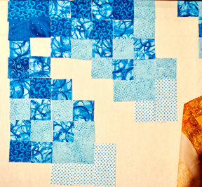 Laying-out-blue-squares